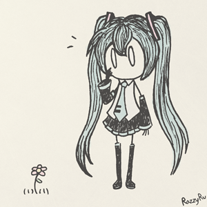 Miku with a Flower