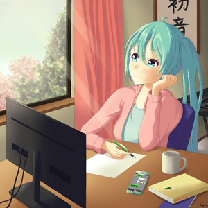 At home with Miku